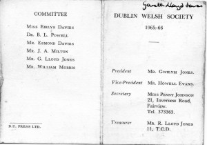 Dublin Welsh Soc 1965-66 outer