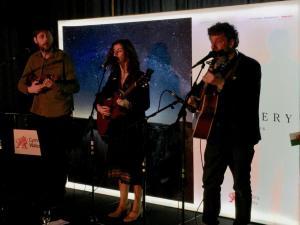 Gwyneth Glyn and Twm Morys in performance