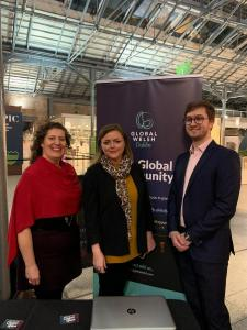 Representatives of Global Welsh Dublin and the Welsh Government office in Ireland